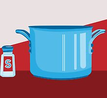 In the kitchen: salt and pot by digestmag