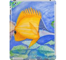 yellow and parrott fish. ipad. iphone iPad Case/Skin