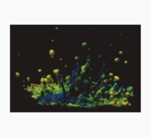 Paint Sculpture - High speed photography of splashes of paint  One Piece - Short Sleeve