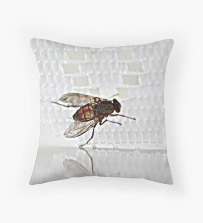 Not I said the Spider to the Fly Throw Pillow