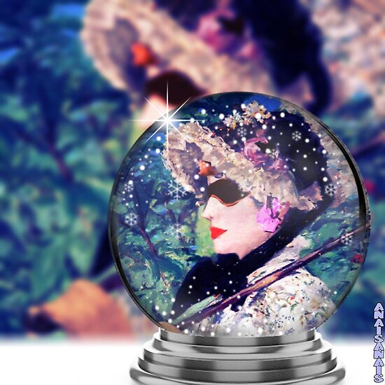 SPRING..PHOTOMONTAGE  WITH (UNAWARE ) COLLABORATION OF EDOUARD MANET by anaisanais