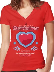 The Miraculous Heart Container Women's Fitted V-Neck T-Shirt