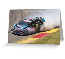 2013 Clipsal 500 Day 3 Ken Block Greeting Card