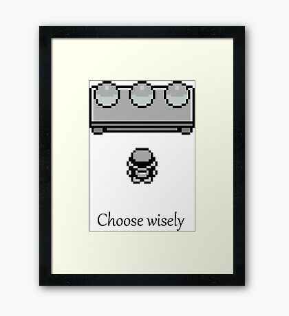Pokemon - The choice Framed Print