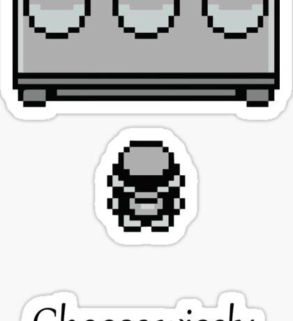 Pokemon - The choice Sticker