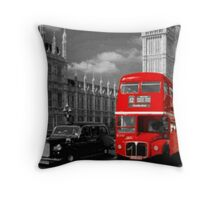 tipical london bus pillows & totes Throw Pillow