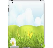 White Flowers and Yellow Butterflies iPad Case iPad Case/Skin