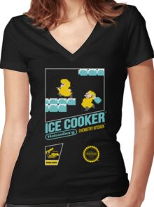 Ice Cooker Women's Fitted V-Neck T-Shirt