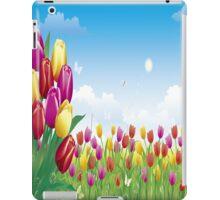 Pink, Yellow and Red Tulips iPad Case iPad Case/Skin