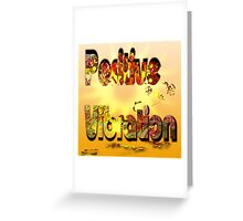Positive Vibration logo 1 Greeting Card