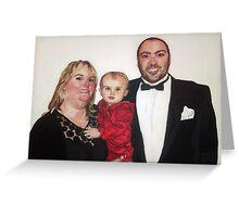Chris, Karen and Olivia Greeting Card