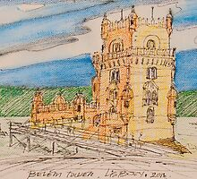 belém sketch by terezadelpilar~ art & architecture