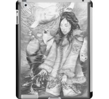 Sedna, Inuit Goddess of the Sea (B&W) iPad Case iPad Case/Skin