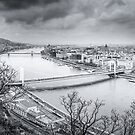 View from Citadella on Budapest by Zoltán Duray