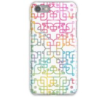 Curvy Angles in White iPhone Case/Skin