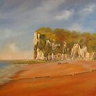 St Margaret's  Bay (towards Dover) by Beatrice Cloake Pasquier