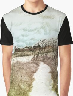 Coastal path at Crail in Fife, Scotland [Colour version] Graphic T-Shirt