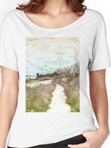 Coastal path at Crail in Fife, Scotland [Colour version] Women's Relaxed Fit T-Shirt