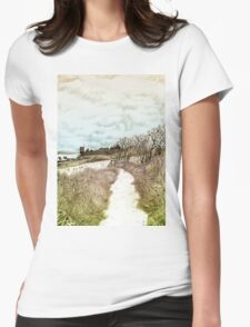 Coastal path at Crail in Fife, Scotland [Colour version] Womens Fitted T-Shirt