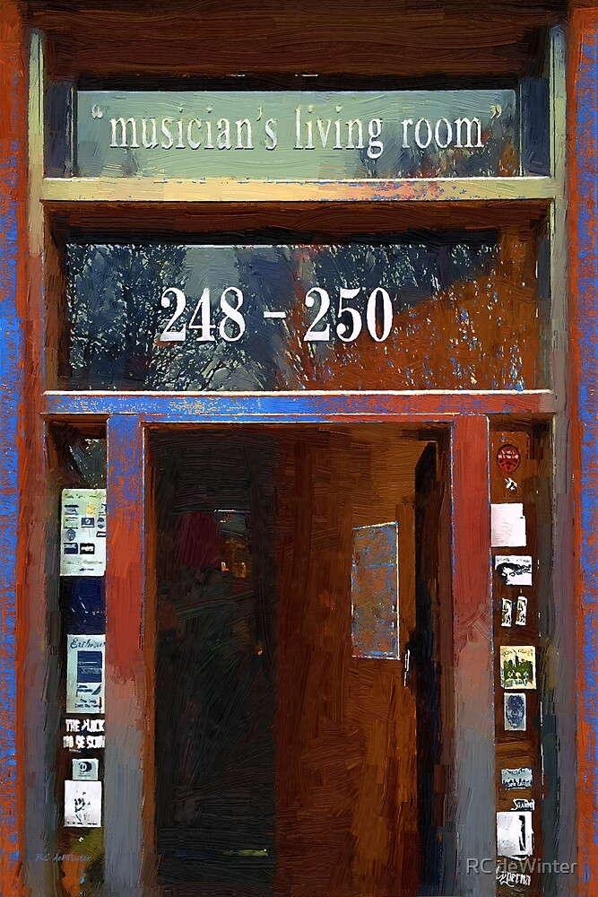 Front Door at the Cafe Nine by RC deWinter