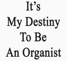 It's My Destiny To Be An Organist  by supernova23