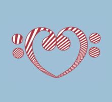 BASS HEART RED STRIPES Baby Tee