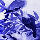 Pigeons in Blue by Jane Holloway