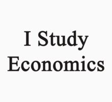 I Study Economics by supernova23