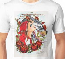 Red and the Wolf Unisex T-Shirt