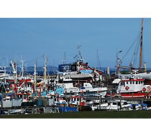 Fishing boat harbour Photographic Print