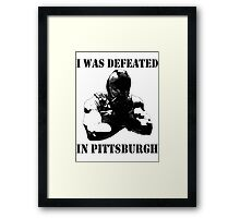 I Was Defeated, Bane: Grayscale Framed Print