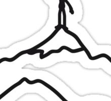Big Mountain Climber Man Sticker