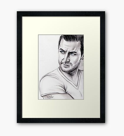 Richard Armitage watching... Framed Print