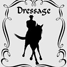 Dressage Horse And Rider Silhouette  by SmilinEyes