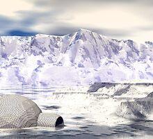 Rogue Igloo On A Fantasy Glacier by Sazzart