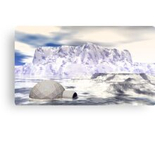 Rogue Igloo On A Fantasy Glacier Canvas Print