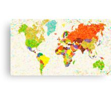 maps pointilism World Map Canvas Print