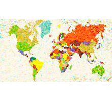 maps pointilism World Map Photographic Print