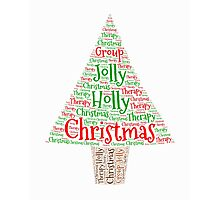 Happy Holly Jolly Christmas Therapy Photographic Print