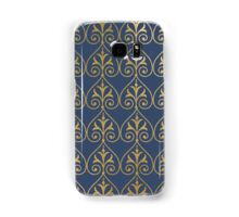 Art deco gold an navy pattern Samsung Galaxy Case/Skin