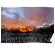 Arlington National Cemetery - Sunset Poster
