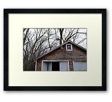 Forgotten Garage Framed Print