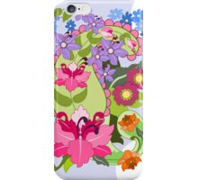 Paisley shapes and Damask flowers iPhone Case/Skin