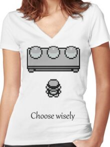 Pokemon - The choice Women's Fitted V-Neck T-Shirt