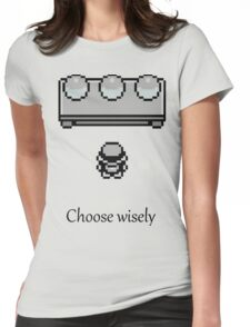 Pokemon - The choice Womens Fitted T-Shirt