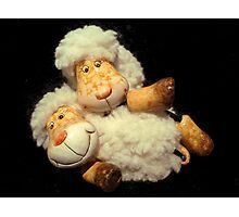 Happy Sheeps Photographic Print