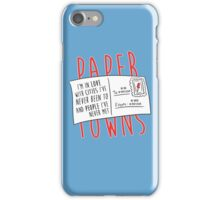 Paper Towns Love iPhone Case/Skin