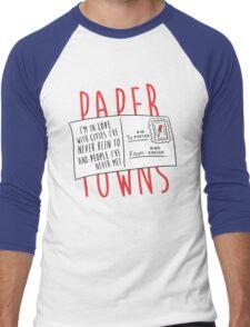 Paper Towns Love Men's Baseball ¾ T-Shirt