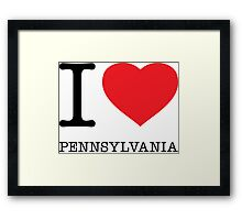I ♥ PENNSYLVANIA Framed Print