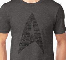 Star Trek The Original Series typography (yellow) Unisex T-Shirt
